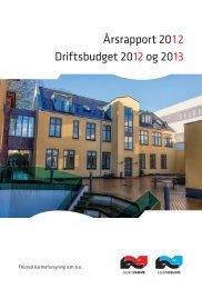 Driftsbudget 2012 og 2013 Årsrapport 2012 - Thisted Varmeforsyning