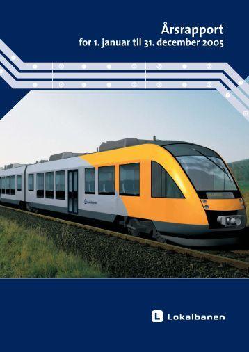 Årsrapport 2005 - Lokalbanen