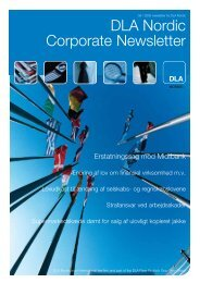 DLA Nordic Corporate Newsletter - Horten