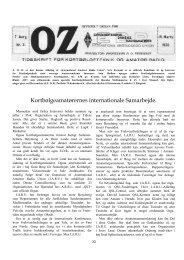 Kortbølgeamatørernes internationale Samarbejde. - Søg i OZ