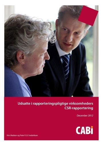 Udsatte i rapporteringspligtige virksomheders CSR-rapportering - Cabi