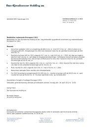 Meddelelse vedrørende Årsrapport 2011 / marts 2012 - DEAS