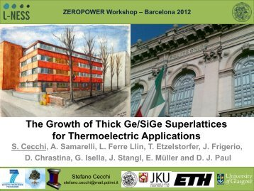 The Growth of Thick Ge/SiGe Superlattices for Thermoelectric ...