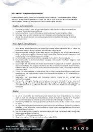 Salgs- og leveringsbetingelser - Autolog