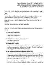 Referat fra møde i Viborg Stifts undervisningsudvalg torsdag
