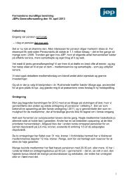 Formandens mundtlig beretning 2013 - JØP