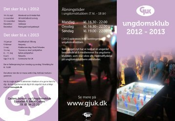 ungdomsklub 2012 - 2013 - Galten Junior