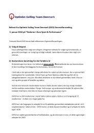 Referat af generalforsamling den 3. januar 2010 - Optimist