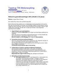Referat fra generalforsamling 2010 - Motionscykling