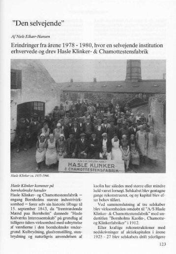 """""""Den selvejende"""" - Bornholms Historiske Samfund"""