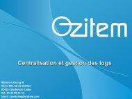 Notre offre de centralisation des logs - Ozitem