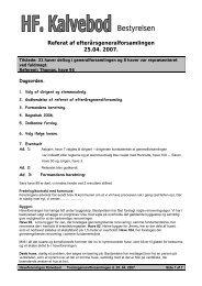 Forårsgeneralforsamling 25.04. 2007 - Haveforeningen Kalvebod