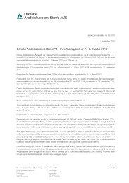 Danske Andelskassers Bank A/S - Kvartalsrapport for 1.- 3. kvartal ...