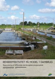 Renseeffektivitet på model 1 dambrug – Rapportering af WP4 under ...