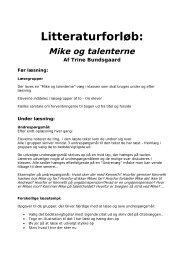 Undervisningsmateriale til Mike og talenterne - Trine Bundsgaards ...