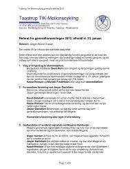 Referat fra generalforsamling 2012 - Motionscykling