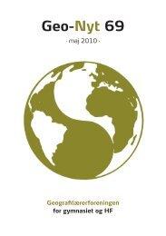Geo-Nyt 69 - Geografilærerforeningen