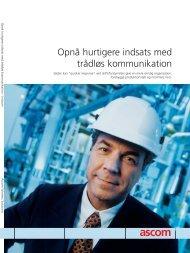 Trådløs kommunikation til industrien - Ascom Danmark