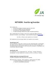 NETVRK - hvorfor og hvordan - JA