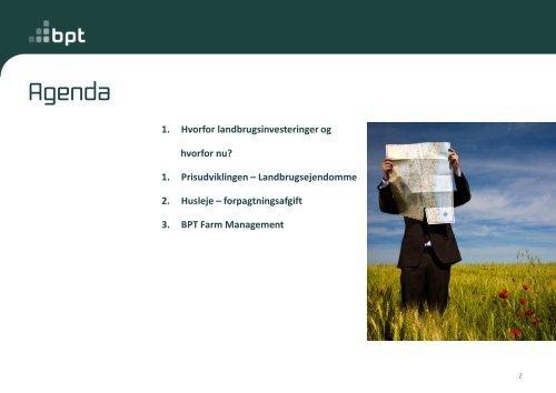 Fondsfinansiering af landbrug