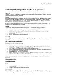 Kontrol og afstemning ved anvendelse af IT ... - Fanø Kommune