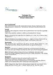 Vedtægter for Den selvejende institution Grenaa Idrætscenter