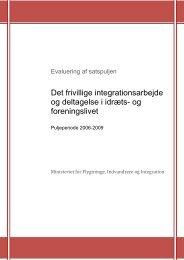 Det frivillige integrationsarbejde og deltagelse i idræts- og ... - Social