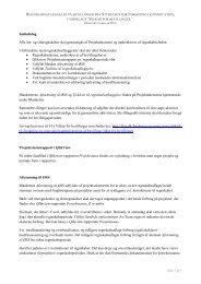 Regnskabsaflæggelse på bevillinger fra styrelsen for forskning og ...