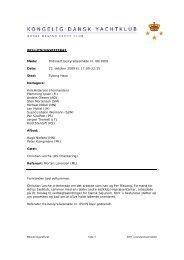Beslutningsreferat 06-2009 - Kongelig Dansk Yachtklub