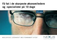 specialister på 10 dage - Nexus Interim Management