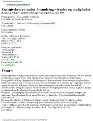 Energisektoren under forandring - trusler og - Teknologirådet