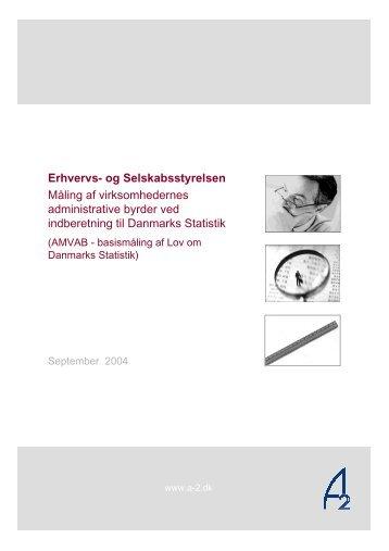 Rapport om AMVAB målingen af Lov om Danmarks Statistik - Digital ...
