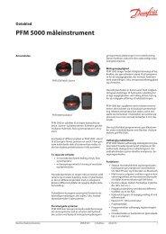 PFM 5000 måleinstrument - Danfoss Varme
