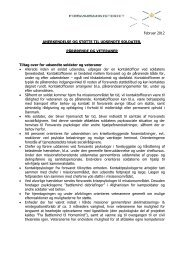 Oversigt over anerkendelse og støtte (pdf) - Forsvarsministeriet