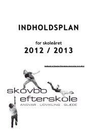 INDHOLDSPLAN INDHOLDSPLAN 2012 / 2013 ... - Skovbo Efterskole