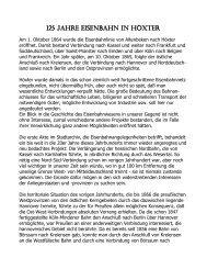 125 Jahre Eisenbahn in Höxter
