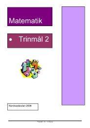 Matematik • Trinmål 2 - Sletten Skole