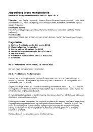 Referat fra menighedsrådets møde d.16. april ... - Jægersborg Sogn