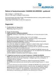 Bestyrelsesmøde d. 1. november 2012 - Danske Ældreråd