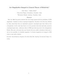 Are Singularities Integral to General Theory of Relativity? Abstract