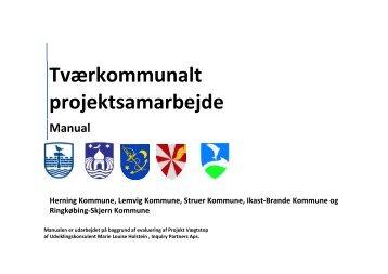 Manual - Tværkommunalt projektsamarbejde - Lemvig Kommune