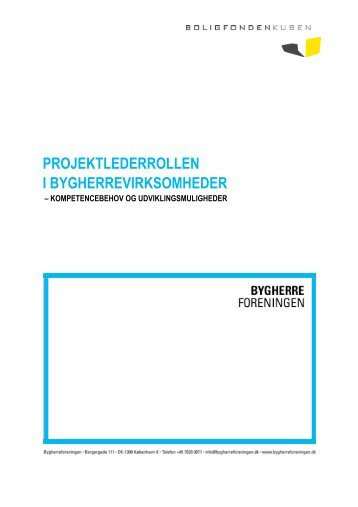 projektlederrollen i bygherrevirksomheder - Bygherreforeningen