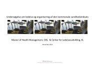 Rapport om ledelse og organisering af den kommunale ... - CBS