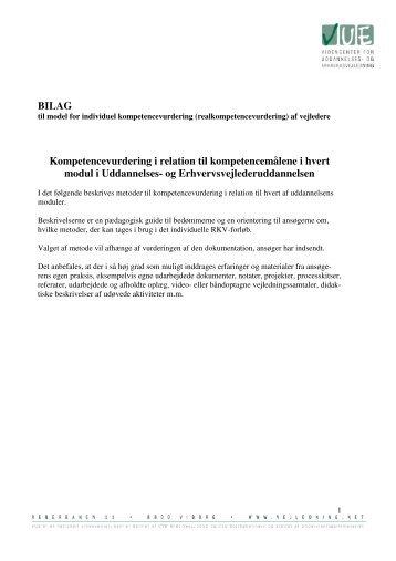 BILAG Kompetencevurdering i relation til kompetencemålene i hvert ...