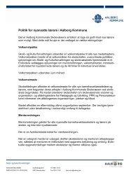 Politik for nyansatte lærere - Aalborg Kommunale Skolevæsen