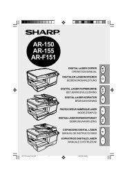 AR-150/155/F151 Operation-Manual GB DE DK SE FR NL ... - Sharp