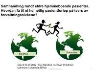 Samhandlingskonferanse Gjøvik_røsstad - Sykehuset Innlandet HF