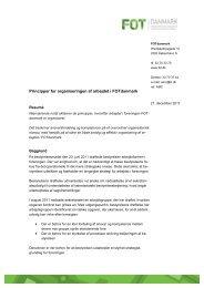 Principper for organiseringen af arbejdet i FOTdanmark, efterår 2011