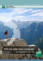 2012: een sober maar cruciaal jaar - BNP Paribas Investment Partners