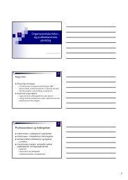 1 Organisatoriske felter - og professionernes udvikling - IVA